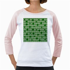 St. Patrick s day pattern Girly Raglans