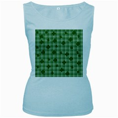St. Patrick s day pattern Women s Baby Blue Tank Top