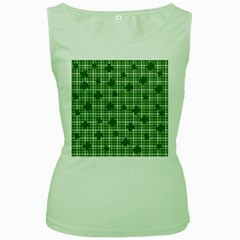 St. Patrick s day pattern Women s Green Tank Top