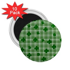 St. Patrick s day pattern 2.25  Magnets (10 pack)