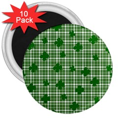 St. Patrick s day pattern 3  Magnets (10 pack)