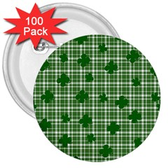 St. Patrick s day pattern 3  Buttons (100 pack)