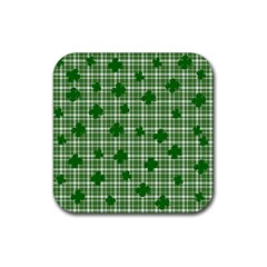 St. Patrick s day pattern Rubber Coaster (Square)