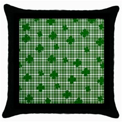 St. Patrick s day pattern Throw Pillow Case (Black)