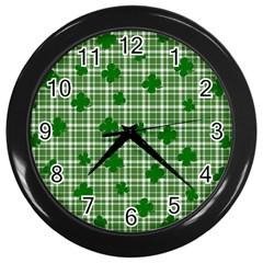 St. Patrick s day pattern Wall Clocks (Black)