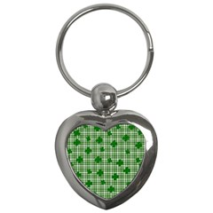 St. Patrick s day pattern Key Chains (Heart)