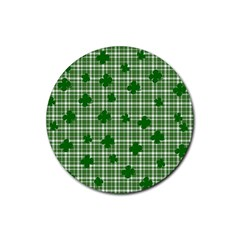 St. Patrick s day pattern Rubber Round Coaster (4 pack)