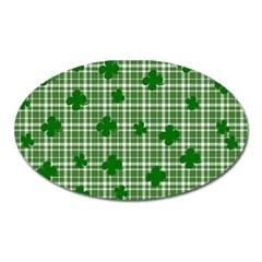 St. Patrick s day pattern Oval Magnet