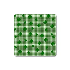 St. Patrick s day pattern Square Magnet
