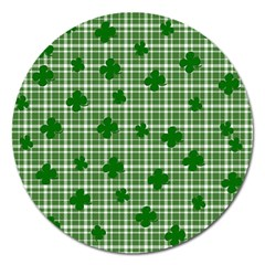St. Patrick s day pattern Magnet 5  (Round)