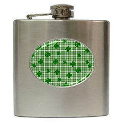 St. Patrick s day pattern Hip Flask (6 oz)