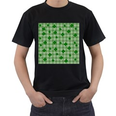 St. Patrick s day pattern Men s T-Shirt (Black) (Two Sided)