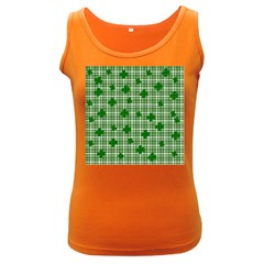 St. Patrick s day pattern Women s Dark Tank Top