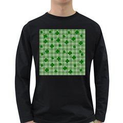 St. Patrick s day pattern Long Sleeve Dark T-Shirts
