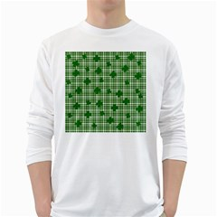 St. Patrick s day pattern White Long Sleeve T-Shirts