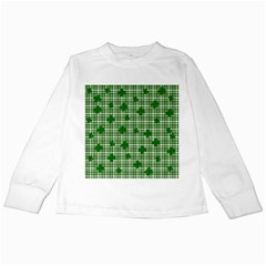St. Patrick s day pattern Kids Long Sleeve T-Shirts