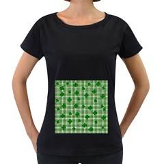 St. Patrick s day pattern Women s Loose-Fit T-Shirt (Black)