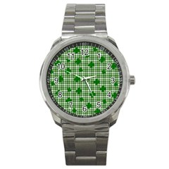 St. Patrick s day pattern Sport Metal Watch