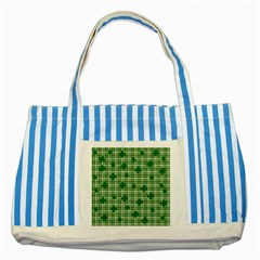 St. Patrick s day pattern Striped Blue Tote Bag