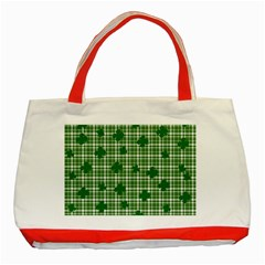 St. Patrick s day pattern Classic Tote Bag (Red)