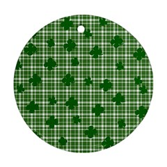 St. Patrick s day pattern Round Ornament (Two Sides)