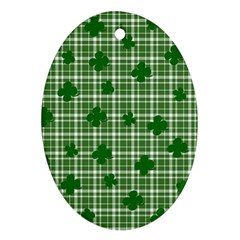St. Patrick s day pattern Oval Ornament (Two Sides)