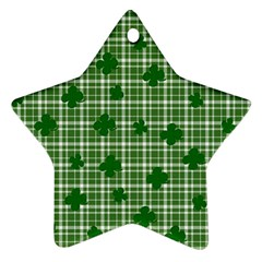 St. Patrick s day pattern Star Ornament (Two Sides)