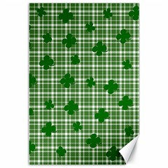 St. Patrick s day pattern Canvas 12  x 18