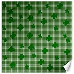 St. Patrick s day pattern Canvas 20  x 20