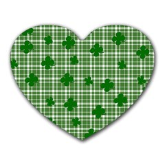 St. Patrick s day pattern Heart Mousepads