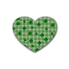 St. Patrick s day pattern Rubber Coaster (Heart)