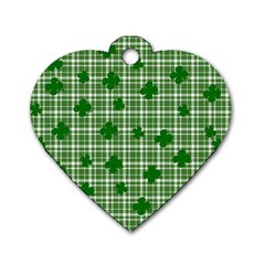 St. Patrick s day pattern Dog Tag Heart (Two Sides)