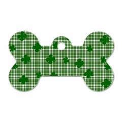 St. Patrick s day pattern Dog Tag Bone (Two Sides)