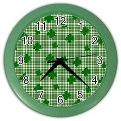 St. Patrick s day pattern Color Wall Clocks