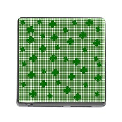 St. Patrick s day pattern Memory Card Reader (Square)