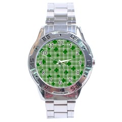 St. Patrick s day pattern Stainless Steel Analogue Watch