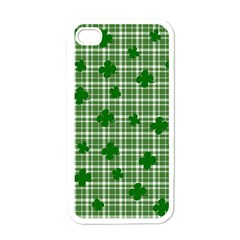 St. Patrick s day pattern Apple iPhone 4 Case (White)