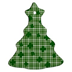 St. Patrick s day pattern Christmas Tree Ornament (Two Sides)
