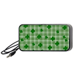 St. Patrick s day pattern Portable Speaker (Black)