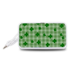 St. Patrick s day pattern Portable Speaker (White)