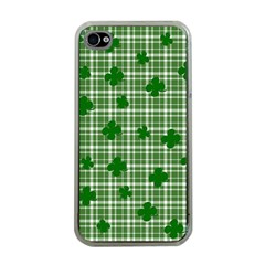 St. Patrick s day pattern Apple iPhone 4 Case (Clear)