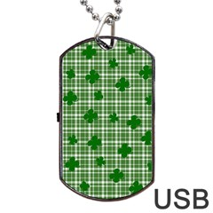 St. Patrick s day pattern Dog Tag USB Flash (One Side)