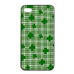 St. Patrick s day pattern Apple iPhone 4/4s Seamless Case (Black)