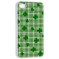 St. Patrick s day pattern Apple iPhone 4/4s Seamless Case (White)