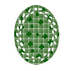 St. Patrick s day pattern Oval Filigree Ornament (Two Sides)