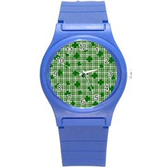 St. Patrick s day pattern Round Plastic Sport Watch (S)