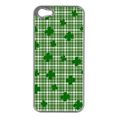 St. Patrick s day pattern Apple iPhone 5 Case (Silver)