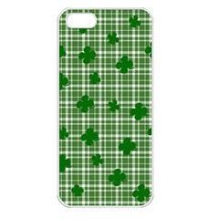 St. Patrick s day pattern Apple iPhone 5 Seamless Case (White)