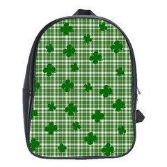 St. Patrick s day pattern School Bags (XL)