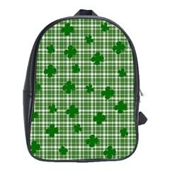 St. Patrick s day pattern School Bags (XL)